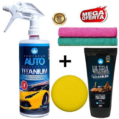 Promoção Especial - 1 Auto Protection Titanium 946ml (Limpa, Cristaliza e Protege média de 10 carros) + 1 Ultra Finish Titanium + Brindes