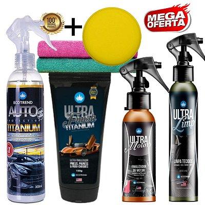 Promoção Especial  - 1 Auto Protection Titanium 300ml + 1 Ultra Finish Titanium + 1 Ultra Motors + 1 Ultra Limp + Brindes