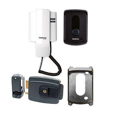 ( Já Instalado)Kit Interfone Intelbras +Fechadura AGL (não esta incluso serviço de serralheiro)