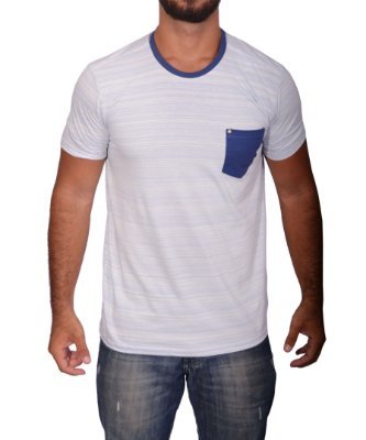Camiseta Over Black Tshirt - Com Bolso Azul