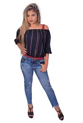 Blusa Feminina Over Black - Ciganinha