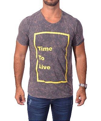 Camiseta Over Black  Tshirt - Time To LIve