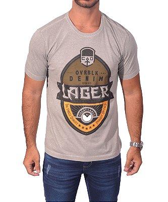 Camiseta Over Black Tshirt - Cinza