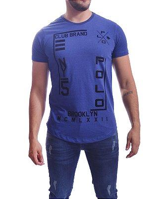 Camiseta Over Black T-Shirt Polo - Azul