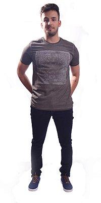 DUPLICADO - Camiseta Over Black T-Shirt Estampa - Petroléo