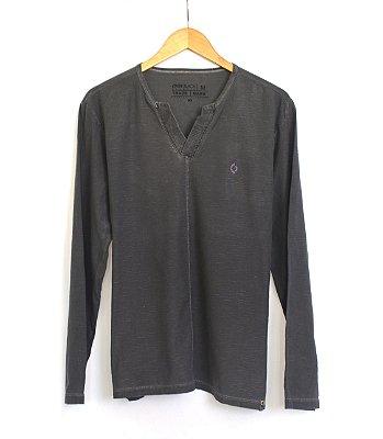 Camisa Manga Longa Masculina Over Black
