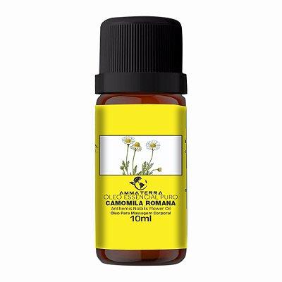 Óleo Essencial Puro De Camomila Romana 10ml ( Excelente calmante, sedativo e anti-inflamatório )