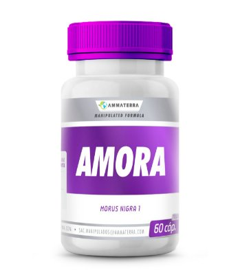 Amora 60 Cápsulas 500mg, (sintomas da menopausa, TPM e da osteoporose, devido às suas propriedades antioxidantes e reguladoras dos hormônios)