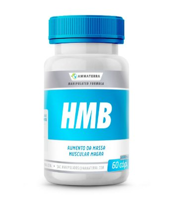 Composto Para Aumento De Massa Muscular e Força HMB 500mg 60 Cápsulas (MASSA MUSCULAR MAGRA E GANHO DE FORÇA)