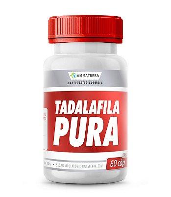 Tadalafila Pura 10mg  60 Cápsulas (Melhora o fluxo sanguíneo peniano, garantindo uma ereção satisfatória durante o ato sexual. É indicado em casos de hiperplasia prostática, problemas na bexiga e outros)