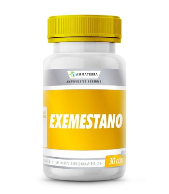 Exemestano 30  Cápsulas 25mg (O exemestano é um inibidor da aromatase com uma estrutura de esteroide. É responsável por reduzir a produção de estrógeno no organismo.)