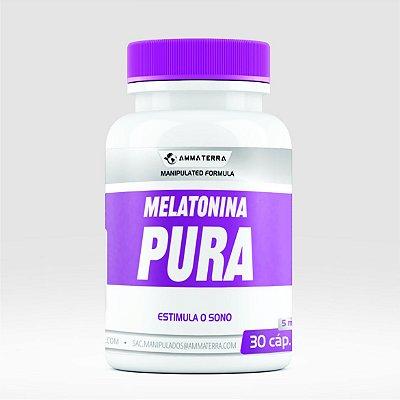 Melatonina Pura 5mg 30 Cápsulas ( tratar a enxaqueca, combater tumores , mais frequentemente insônia.)