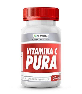 Vitamina C Pura  60 Cápsulas 1000mg (O SEU USO TAMBÉM TEM SIDO PRECONIZADO PARA AUMENTAR A IMUNIDADE, A RESISTÊNCIA A INFECÇÕES E COMO ANTIOXIDANTE PARA CAPTAÇÃO DE RADICAIS LIVRES)