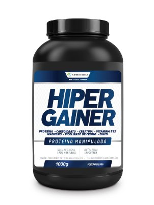 Composto Para Ganho De Peso Hiper Gainer 1 kg (   Aumenta a intensidade dos treinos  – Melhora a contração muscular  – Acelera a recuperação  – Mais pump muscular  – Aumento do metabolismo  – Inibe a miostatina)