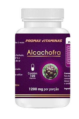 Alcachofra 120 Cápsulas 1200 mg, ( vitaminas A, C e B2, cálcio, fósforo, ferro, potássio e magnésio, além de possuir poucas calorias. Por isso o alimento é benéfico para o colesterol, a digestão, a pressão arterial e o controle glicêmico)