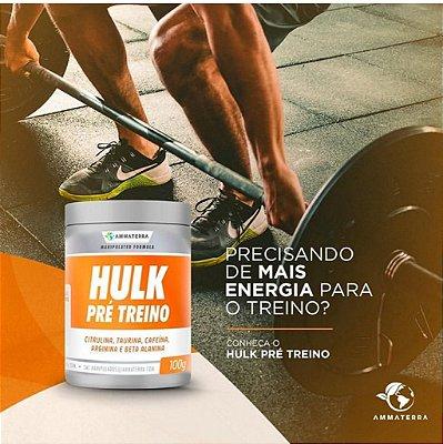 Pré Treino Hulk 200gr Sabores 20 Doses, (PRÉ TREINO DE ALTO RENDIMENTO NO TREINO DE FORÇA, REDUÇÃO DA FADIGA, MAIOR EFEITO PUMP E MAIS DISPOSIÇÃO)