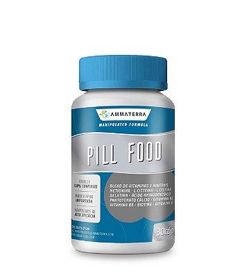 Pill Food 60 Cápsulas, (BENEFÍCIOS À PELE, CABELOS E UNHAS)