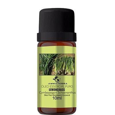 Óleo Essencial Puro De Lemongrass 10ml (massagens relaxantes ou estéticas. Alivia dores musculares e inflamações localizadas, por ter ação analgésica e relaxante muscular. Em massagens estéticas, ajuda a reduzir gordura localizada e celulite)