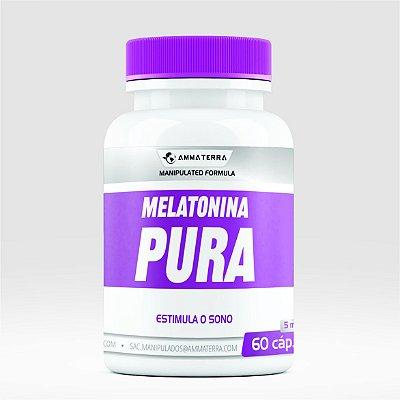 Melatonina Pura 5mg 60 Cápsulas ( tratar a enxaqueca, combater tumores , mais frequentemente insônia.)