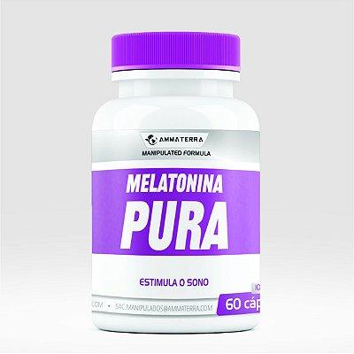 Melatonina Pura 10mg 60 Cápsulas ( tratar a enxaqueca, combater tumores , mais frequentemente insônia.)