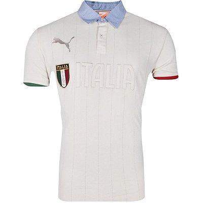 Camisa Polo Figc Italia 2014 Puma Masculina