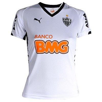 Camisa Atlético Jogo II Ronaldinho Nº10 2014 Puma Feminina