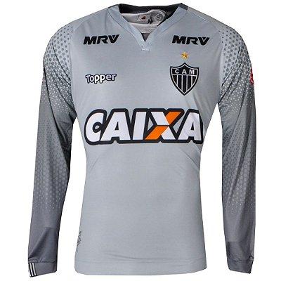 Camisa Atlético Goleiro I Manga Longa 2017 Topper Masculina fbefc23bf411a