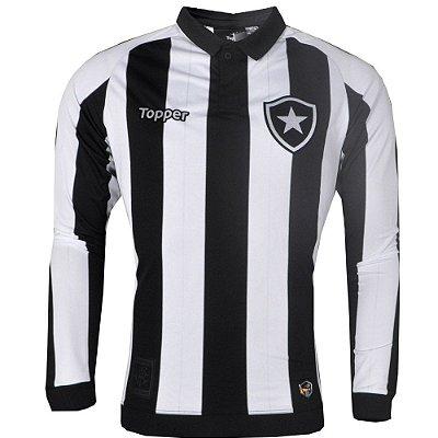 Camisa Botafogo Jogo I Manga Longa 2017 Topper Masculina