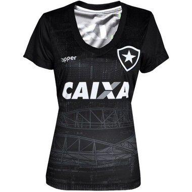 c9e10ffab5 Camisa Botafogo Aquecimento Topper Feminina