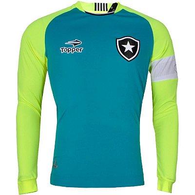 Camisa Botafogo Goleiro Jefferson Manga Longa Plus Size 2016 Topper Masculina