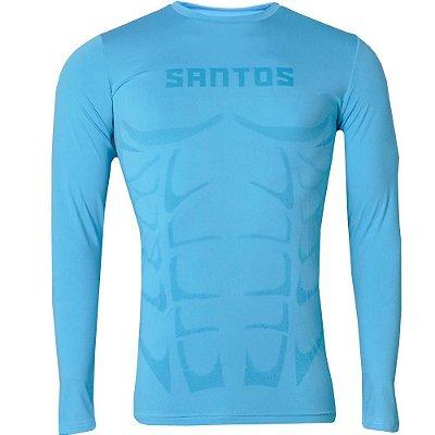Camisa Santos Compressão Aquecimento Manga Longa 2016 Masculina