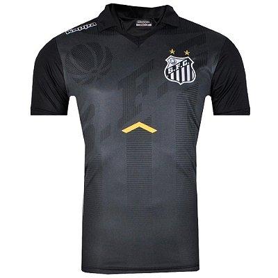 Camisa Polo Santos Comissão Técnica 2017 Kappa Masculina