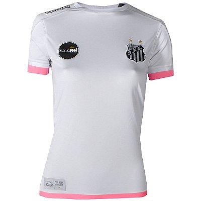 Camisa Santos Jogo I Torcedor 2017 Kappa Feminina d0ee14443741b