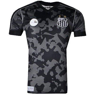 Camisa Santos Jogo III Oficial 2017 Kappa Juvenil
