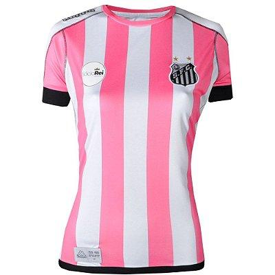 Camisa Santos Jogo II Oficial 2017 Kappa Feminina