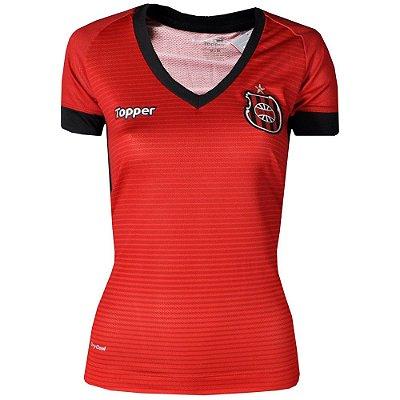 Camisa Brasil de Pelotas Jogo I SPatrocínio 2017 Topper Feminina