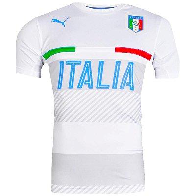 Camisa Itália Treino Branco Puma Masculina