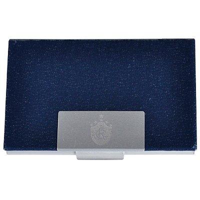 Porta Cartão Couro Azul Remo