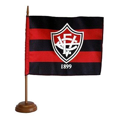 Bandeira de Mesa Vitória Com Mastro e Base