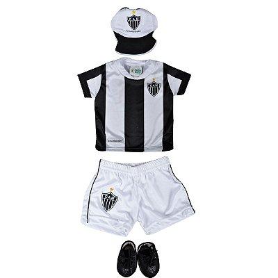 Kit 4 Peças Sublimado (Camiseta, Shorts, Chuteira e Boné) Atlético