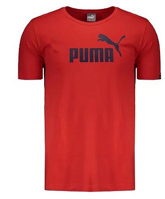 Camisa Vestuário Ess Logo Tee Red Puma Masculina