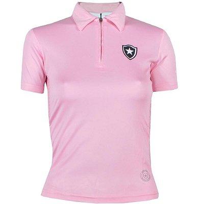Camisa Botafogo Polo Rosa Feminina