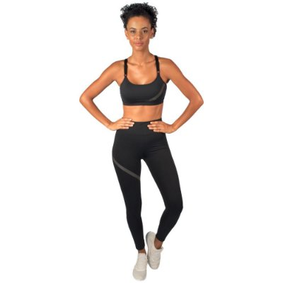 LEGGING LAB BLACK FITNESS FEMININA