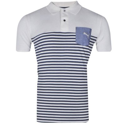 Camisa Polo I Striped Core 2014 Puma Masculina