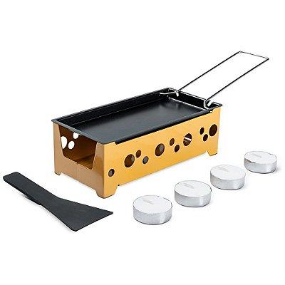 Conjunto Raclette 7 Peças Aço Carbono Amarelo Brinox