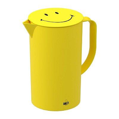 Jarra Casual Com Tampa Cozy Smiley 2 Litros Amarelo Brinox