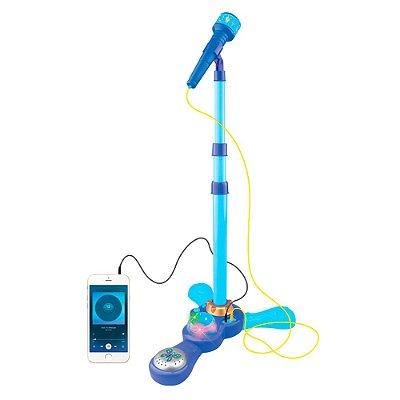 Microfone Infantil Pedestal Luzes Azul BW139AZ Importway