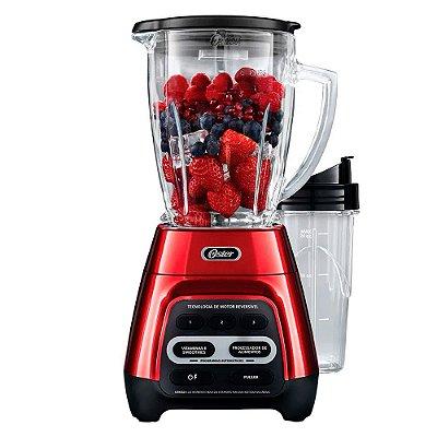 Liquidificador Reversível Oster Vermelho Com Blend-N-Go 110v