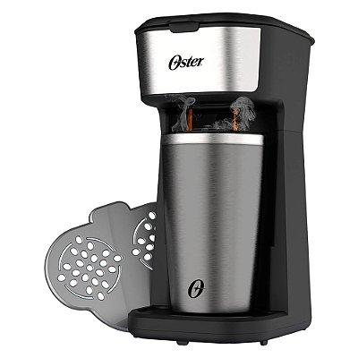 Cafeteira Oster 2Day Inox 2 em 1 Copo Térmico OCAF200 220v