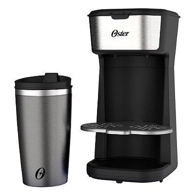 Cafeteira Oster 2Day Inox 2 em 1 Copo Térmico OCAF200 110v
